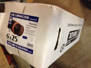 "6"" x 25' insulated duct new in box"