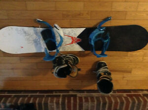 Mens Snowboard and boots