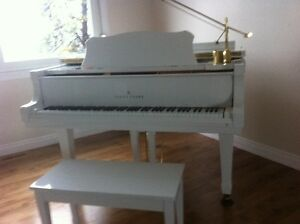 Beautiful White Grand Baby Piano