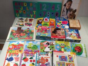 gros lot de casse-tête,livres,jouets et d autres articles