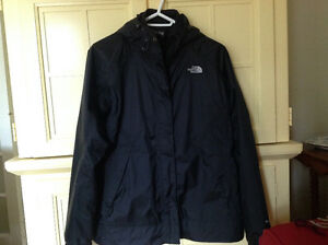 Women's Large Black North Face Jacket full zip