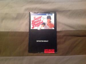 Super Bases Loaded manual for Super Nintendo