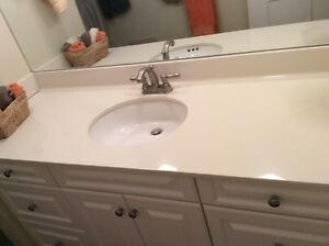 Hard surface counter top, Faucet and Undermonut sink