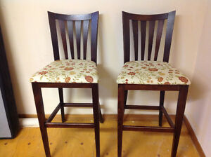 2 bar height stools
