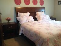 Solid wood  King bedroom suite for sale