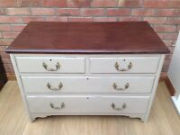 Victorian/ Edwardian vintage chest of drawers painted in Annie Sloan