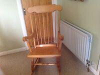 Rocking chair pine coloured
