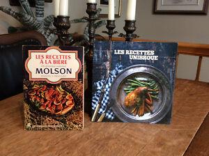MOLSON et ou Unibroue livres de recettes collectionneur