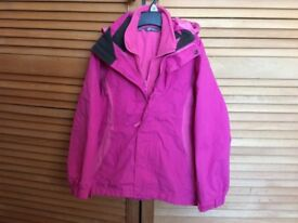 Girl's Pink Waterproof Coat