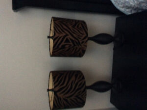 Animal print lamps. Great condition.