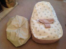 Bambeano Baby Bean Bag Support Chair - Natural