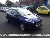 2014 (14 Reg) Ford Fiesta 1.2 ZETEC 5DR Hatchback BLUE + LOW MILES