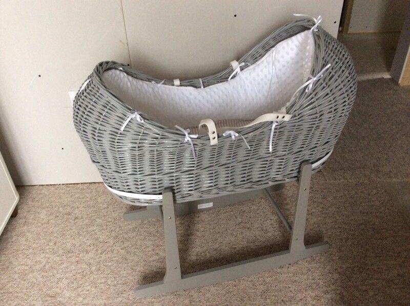 Grey Moses basket