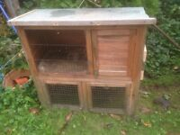 Small hutch ideal for Guinea pigs with new hutch spray.
