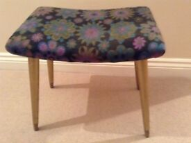 Retro vintage foot stool