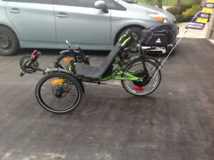 Catrike Trike Villager with power assist in like new condition