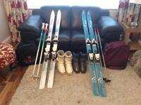 Ladies and gents skis