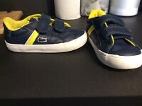 Lacoste trainers infant size 5