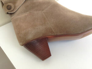 100% Genuine Leather Suede Ankle Boots – Size 7.5 – Almost New