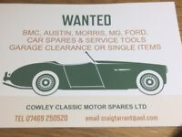 Wanted Austin Morris MG Ford Car Spares and Service Tools
