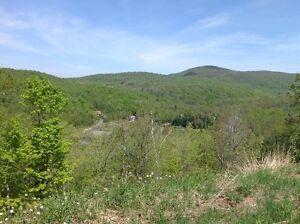 Terrain de 4,3 acres près de Magog, Estrie avec vue et accès lac