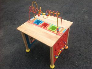 Kids activity table.
