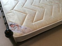 Double bed frame with as new mattress
