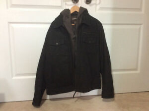 Men's leather jacket size L brand DANIER