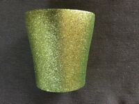 Bright Green Glitter Indoor Plant Pot