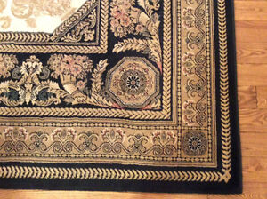 Quality wool rug carpet with underlay