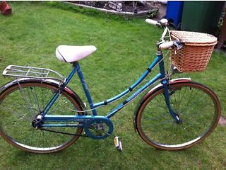 Raleigh retro Dutch loop style bicycle