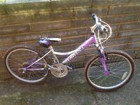 Girls bike, suit 8-12 years