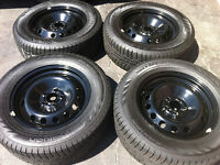 215/65/R16,102R XL Volvo Rims With Winter Nokian Tires 5x108