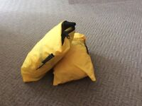 Lockable bags to secure large backpack
