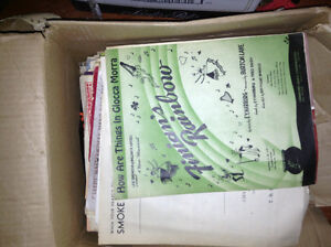 Huge collection of vintage sheet music for sale