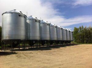 Grain Bin Crew and Concrete Available