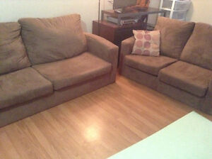 Microfiber couch and love seat delivery included