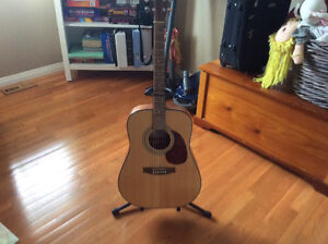 Acoustic Cort Guitar with stand