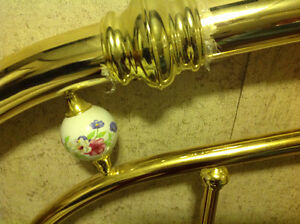 Queen Brass Headboard Kawartha Lakes Peterborough Area image 3