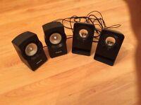 Set Of 4 Mini Speakers