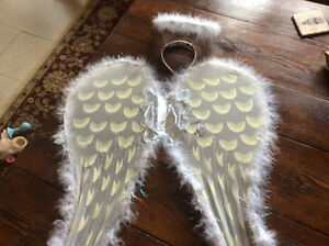 Girl's angel wings and halo