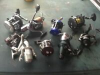 Fishing reels and rods