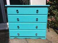 Fusion paint azure (deep turquoise) chest of drawers