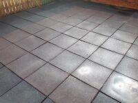 Joblot Rubber Playground tiles. Ideal base for slides, swings, climbing frames safety * SOLD *