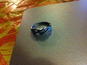 White gold promise ring with diamonds