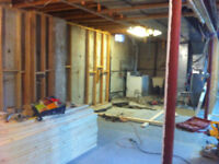 Basement and House renovations.