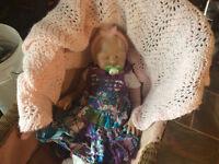 Precious reborn baby girl for adoption