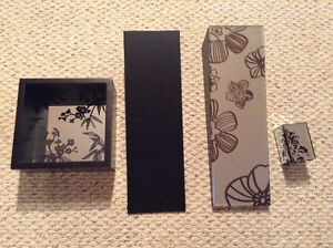 4 piece set wall accent expresso and mirror Windsor Region Ontario image 2