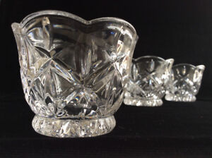 3 Gorham Lady Ann Votives Crystal Candleholder Replacements