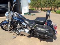 2 HARLEY DAVIDSONS   Street glide and Heritage Softail